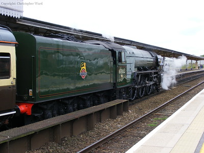 Tornado with the train at Taunton