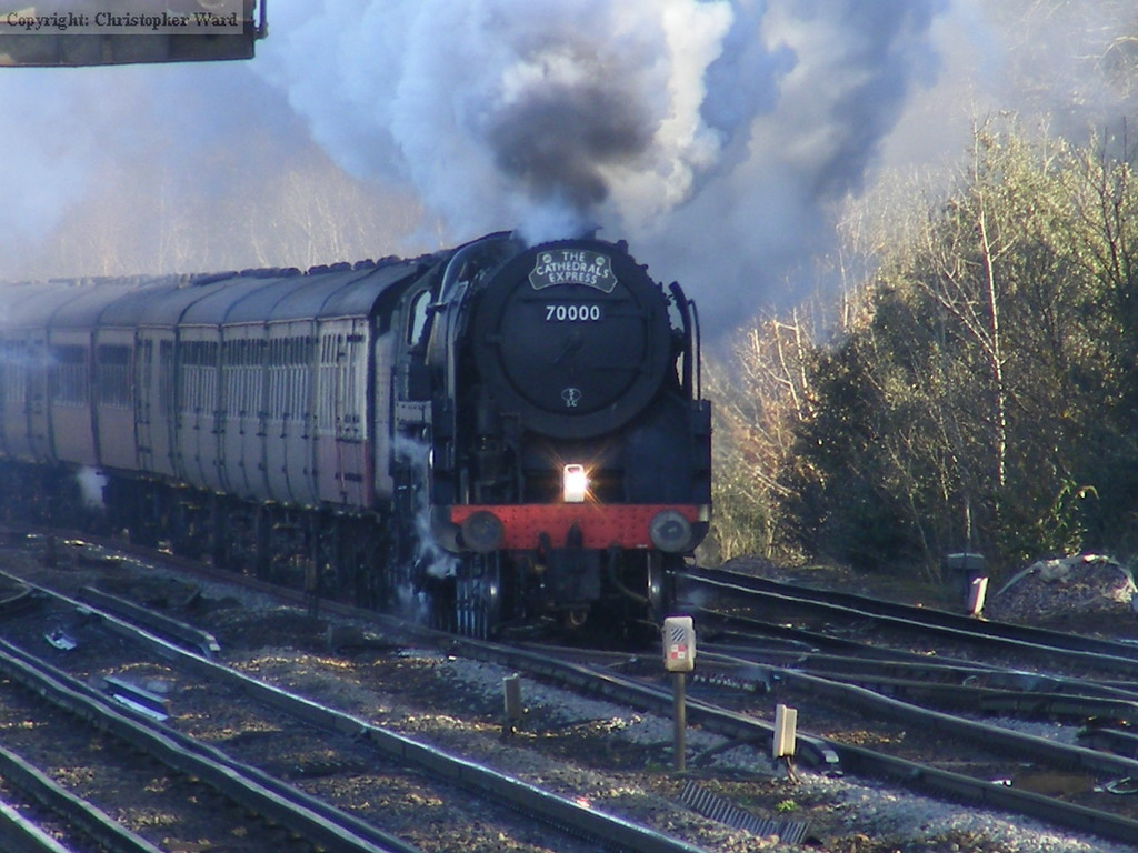 70000 pounds toward Brookwood with the Southend to Winchester excursion