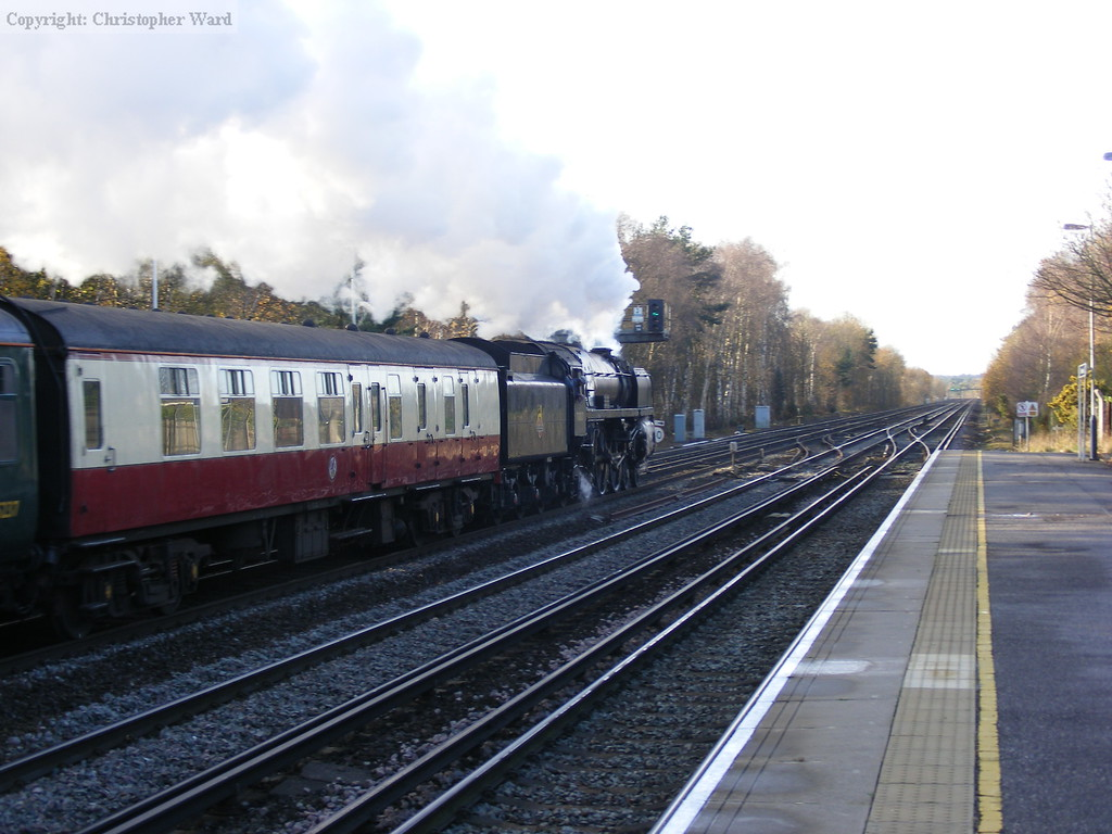Britannia heads out into Hampshire