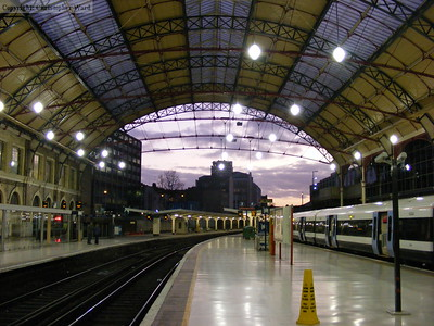 The overall roof over the former SER station at Victoria