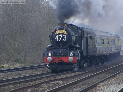 6024 at speed on the main line