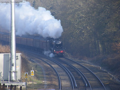 44932 accelerates away from Balcombe Tunnel on the short first hop to Haywards Heath