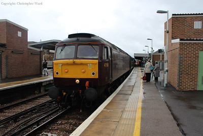 47500 brings in the train from Brighton