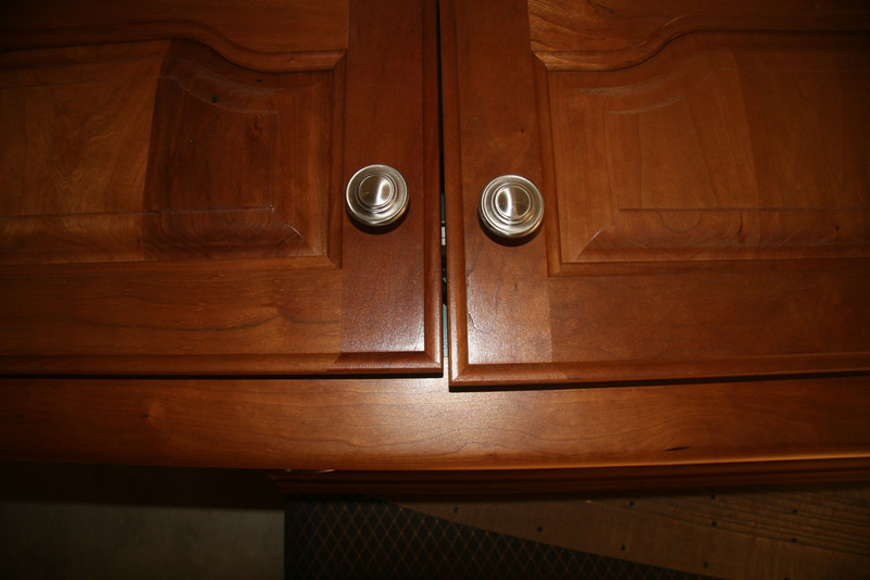 If your cabinet doors have screw alignment adjusters as these do, they can repeatedly loosen up.  This requires constant tweaking of the adjustment screw(s).