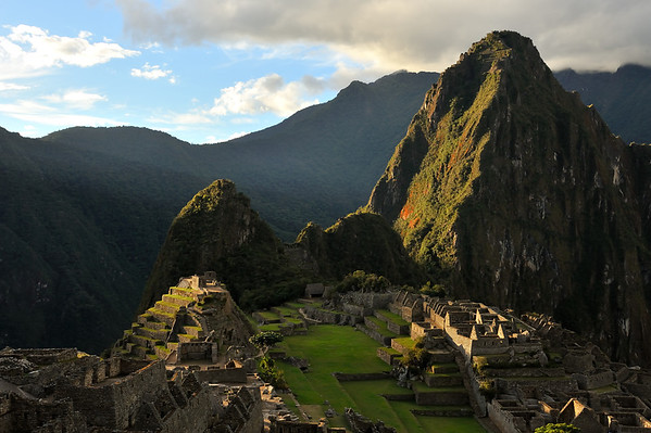 Machu Piccu at sunset