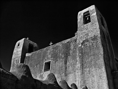 acoma_church_bw