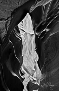Antelope Canyon - Passage Through Time_bw