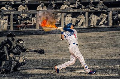 Bellinger Home Run Fire