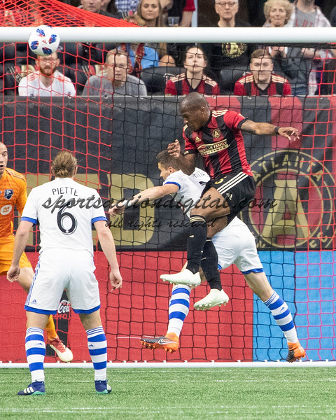 Atlanta Georgia- April 28, 2018: Mercedes-Benz Stadium, Atlanta United vs Montreal Impact.