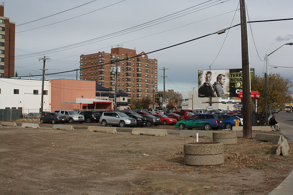 Empty lot before development of Hyatt Place