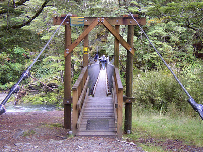 The beginning of the hike had tons of suspension bridges