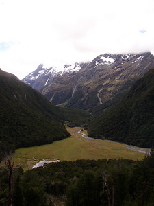 Looking down on Routeburn Flats