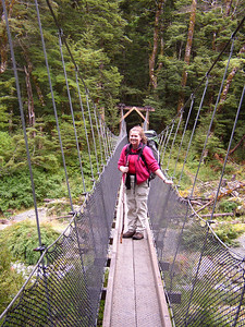 Me on a suspension bridge