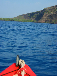 It was mile long paddle to the Captain Cook monument (which can also be reached by a four-mile hike)