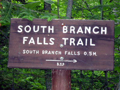 After setting up our campsite, we took a short leg-stretching hike to South Branch Falls.