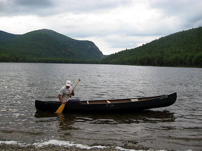 Dave playing in the canoe