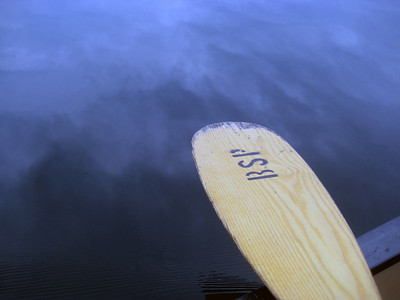 My paddle lying idle... just the way I like it!