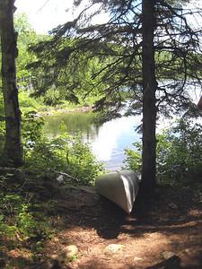A canoe near Billfield Pond