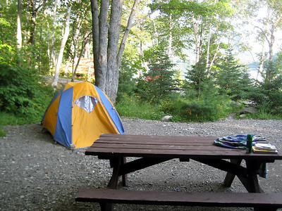 Our campsite at South Branch Pond.