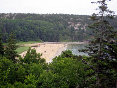 Looking back down at Sand Beach