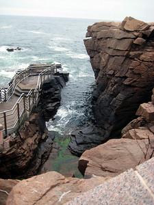 Thunder hole -- this is supposed to make a big boom when the tide is coming in