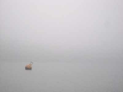 Just a buoy and lots of negative space