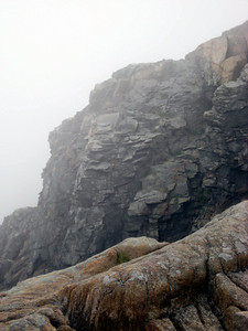Too foggy for a view, so here are some cliffs instead