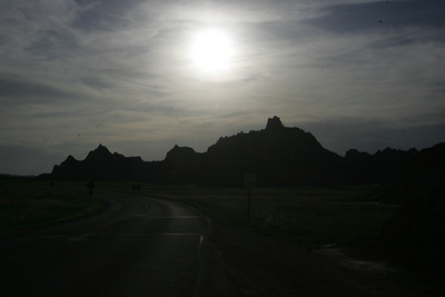 Silhouette of the badlands (photo by Dave)