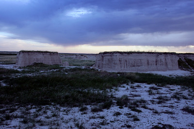 I like the little prairies on top of the cliffs (photo by Dave)
