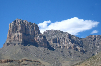Guadalupe from the oposite side, looking smaller than El Capitan in this picture.