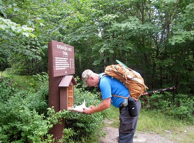 On Tuesday, Glenn and I hiked about six miles to Katahdin Lake