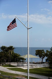 Flag at Biscayne (photo by Dave)