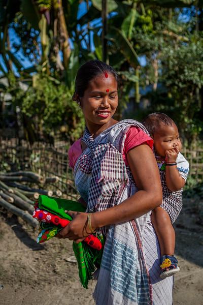 Missi tribal woman, Majuli, Assam, India