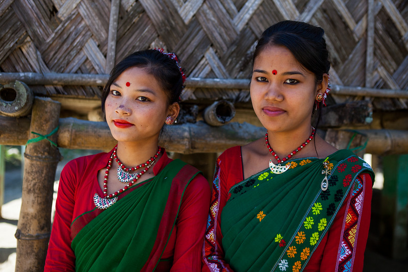 Missi dancers, Majuli, Assam, India
