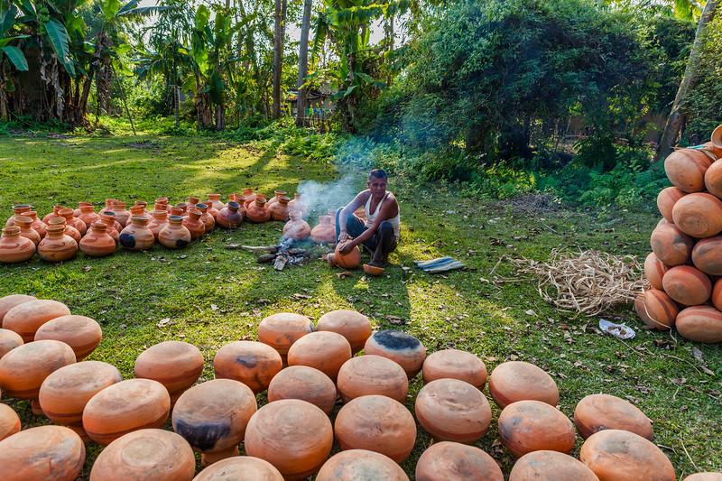 Pot makers in Majuli