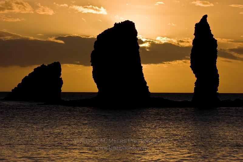 Nanahoa Seastacks at sunset