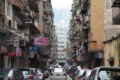 Typowa uliczka nowego miasta