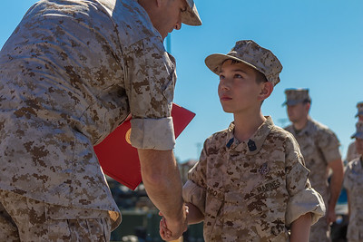 Nathan becomes a marine