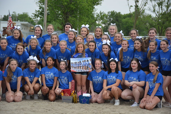 Cheer teams from several area schools presented a special cheer for Grace Brummer telling her that her Make-A-Wish has been granted. Dawn Schabbing photo