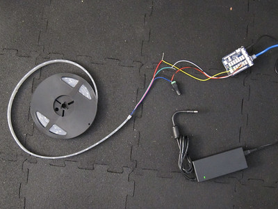Attaching power supply to LED Strip
