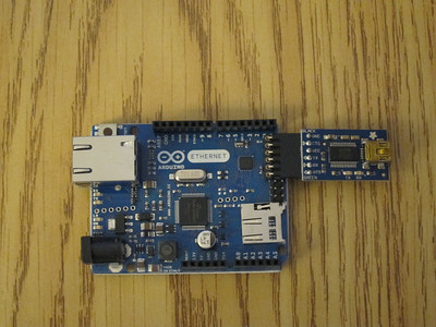 Arduino Uno Ethernet with USB uploading