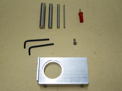 SuperZero parts - base, probes, banana plug, extra screw, USB drive of software