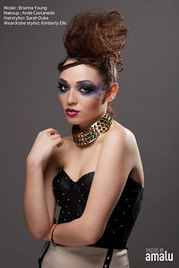 Model: Brianna Young Makeup: Ande Castaneda Hair: Sarah Duke Photo: Photos by Amalu Wardrobe: OohLaLuxe
