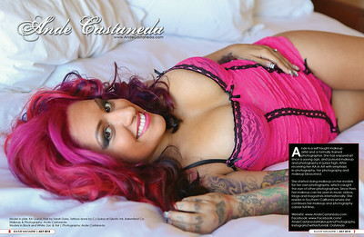 Feature in Kultur Magazine Model in pink: Kiri Quiroz Hair by Sarah Duke Makeup and Photography: Ande Castaneda