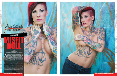 Model: Misfit Doll Makeup & Photography: Ande Castaneda Published in Tattoo Kultur