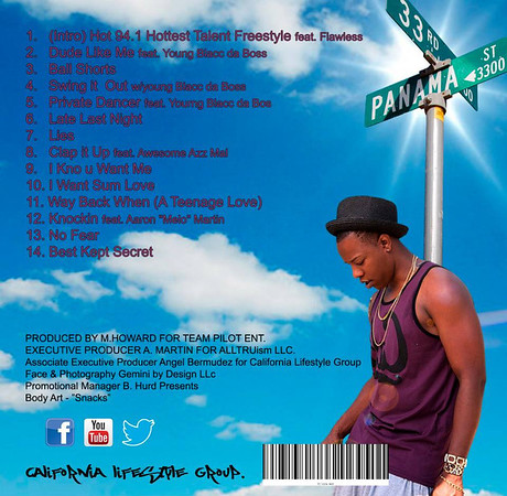 CD cover for D'Ville West Photography by Gemini by Design Makeup by Ande Castaneda through Gemini by Design