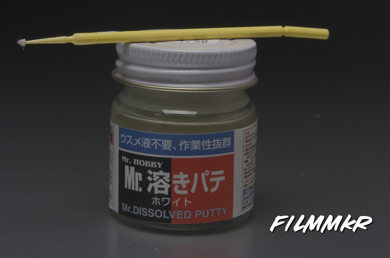 One of my secret weapons - Mr. Dissolved Putty!  I picked this up in Japan while attending Wonder Festival Japan.  I stocked up while I was there, but I've also purchased it at a local hobby shop here in Houston, and I know you can buy it online as well.