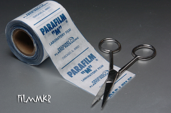For masking areas with undercuts, I'm going to use a technique that I picked up at WonderFest a couple of years ago. That's right, I'm going to use (gasp!) . . . . . Parafilm!