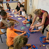 Kids got to learn about the ingredients that go into slasa before they made some themselves at the Leominster Public Library Wednesday, August 21, 2019. Kids cut up the ingredients for their salsa during the program. SENTINEL & ENTERPRISE/JOHN LOVE