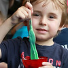 The Lunenburg Public Library had a slime making event for the kids on Wednesday morning. Jimmy Melanson, 4, makes slime during the event at the library. SENTINEL & ENTERPRISE/JOHN LOVE